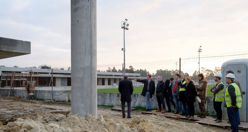 Presidente da CMPV visita Parque Desportivo