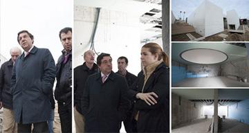 Casa Mortuária de Lavra - Presidente da Câmara visita as obras.