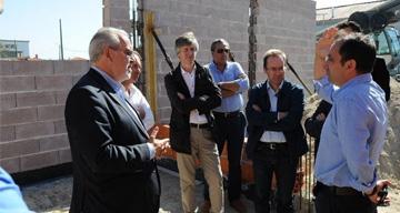 Executivo visitou obra da sede do Centro Recreativo e Cultural das Neves